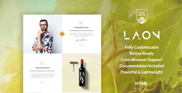 Laon v1.1 — Wine House, Vineyard & Shop HTML Template