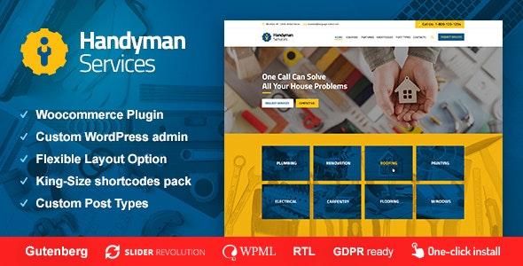 Handyman Services v1.0.8 — Construction & Renovation WordPress Theme
