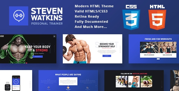 Personal Gym Trainer & Nutrition Coach v1.0 — Site Template