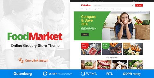 Food Market v1.0.8 — Food Shop & Grocery Store WordPress Theme