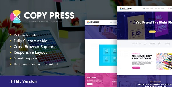 CopyPress v1.1 — Type Design & Printing Services HTML Template