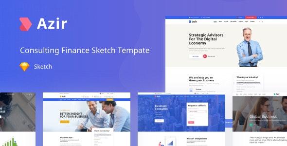 Azir v1.0 — Consulting Finance Sketch App Tempate