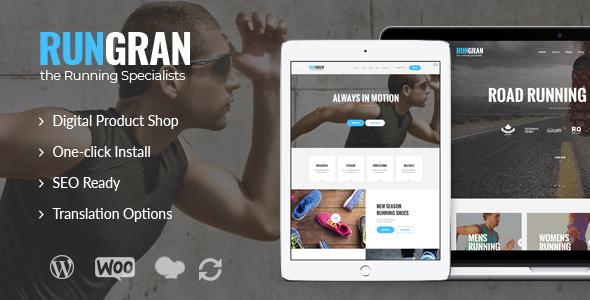 Run Gran v1.1 — Sports Apparel & Gear Store WordPress Theme