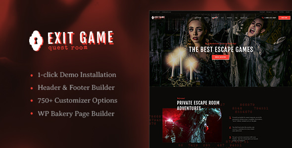 Exit Game v1.2 — Real-Life Room Escape WordPress Theme