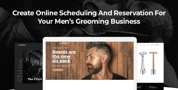 Groomly v1.2.8 — Men's Grooming Scheduling & Reservation WordPress Theme