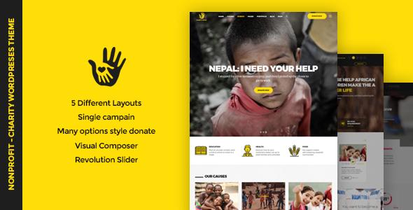 CharityHeart v1.5 — Charity, Crowdfunding, Nonprofit Theme