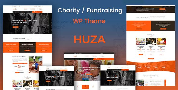Huza v1.8 — Charity/Fundraising Responsive Theme