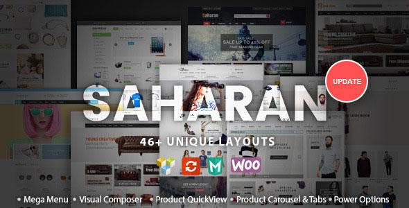 SAHARAN v1.5.3 — Responsive WordPress Theme