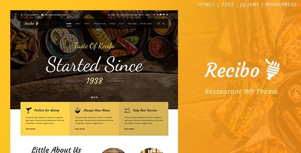 Recibo v1.2.3 — Restaurant / Food / Cook WordPress Theme