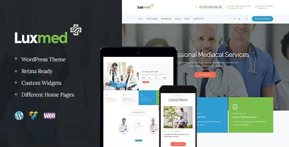 LuxMed v1.2.2 — Medicine & Healthcare WordPress Theme
