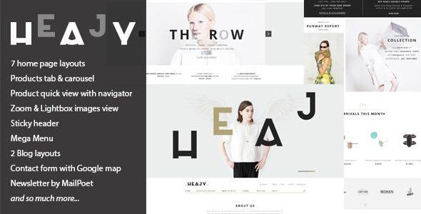 Heajy v1.3.3 — Handmade Fashion WordPress Theme