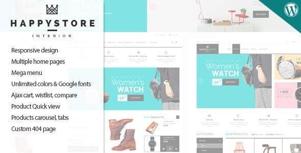 HappyStore v1.6.3 — Responsive WooCommerce Theme