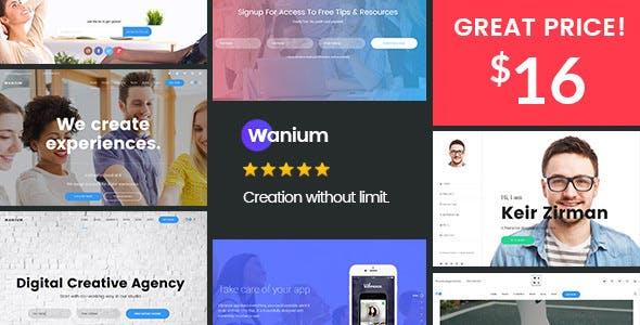 Wanium v1.6.1 — A Elegant Multi-Concept Theme