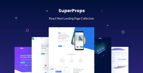 SuperProps — React Next Landing Page Templates