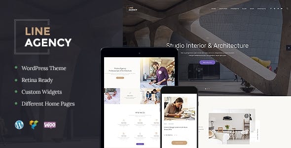 Line Agency v1.2.0 — Interior Design & Architecture Theme