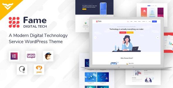Fame v1.1 — Digital Technology/Service WordPress Theme