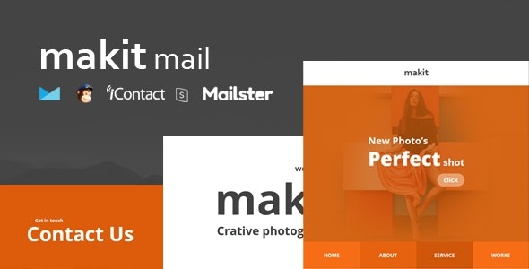 makit Mail — Responsive E-mail Template + Online Access + Mailster + MailChimp