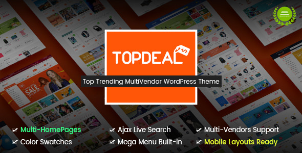 TopDeal v1.6.9 — Multipurpose Marketplace WordPress Theme