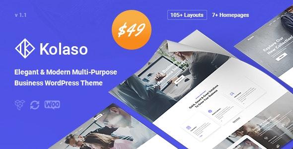 Kolaso v1.1.0 — Modern Multi-Purpose WordPress Theme