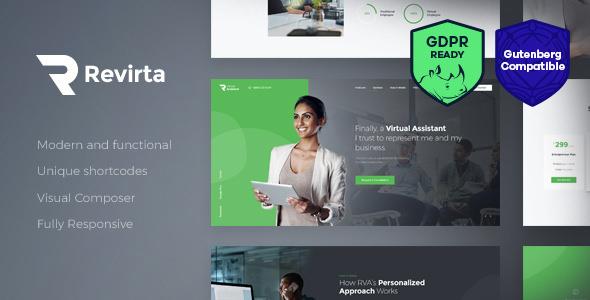 Revirta v1.2.3 — Virtual Assistant WordPress Theme