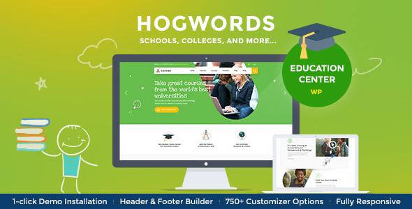 Hogwords v1.2 — Education Center WordPress Theme