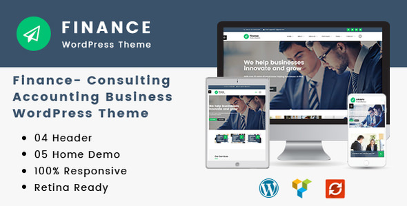 Finance v1.3.0 — Consulting, Accounting WordPress Theme