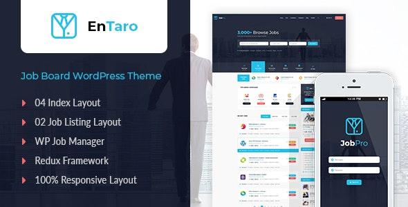 Entaro v3.5 — Job Portal WordPress Theme