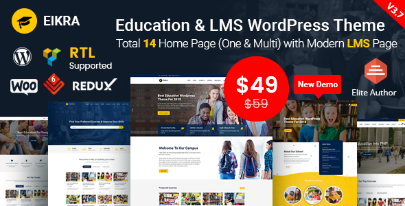 Eikra Education v3.7.1 — Education WordPress Theme