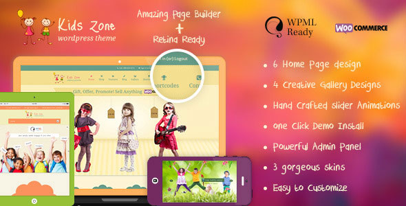 Kids Zone v5.1 — Responsive Children Theme
