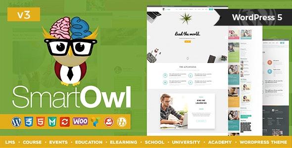 SmartOWL v3.1 — LMS Education WordPress Theme + RTL