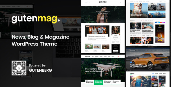 GutenMag v1.1.5 — Gutenberg Theme for Magazine and Blog