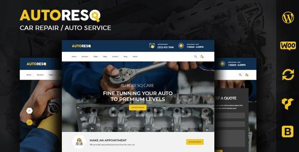 Autoresq v2.1.2 — Car Repair WordPress Theme