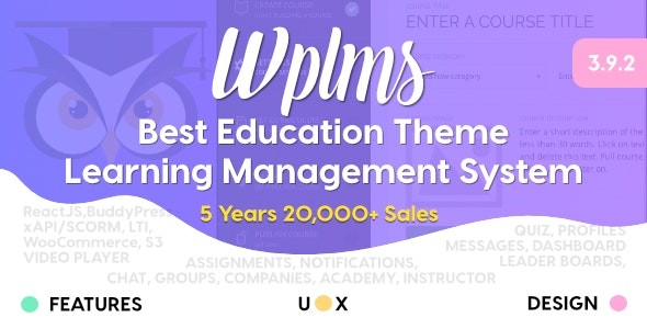 WPLMS v3.9.5 — Learning Management System for WordPress