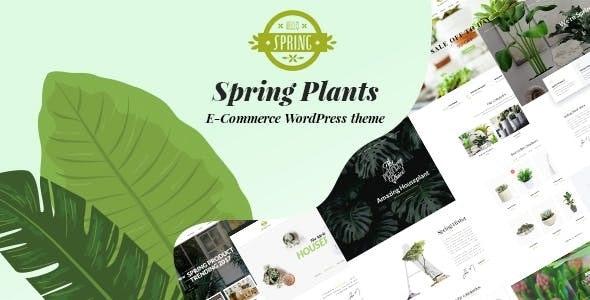 Spring Plants v2.1 — Gardening & Houseplants WordPress Theme