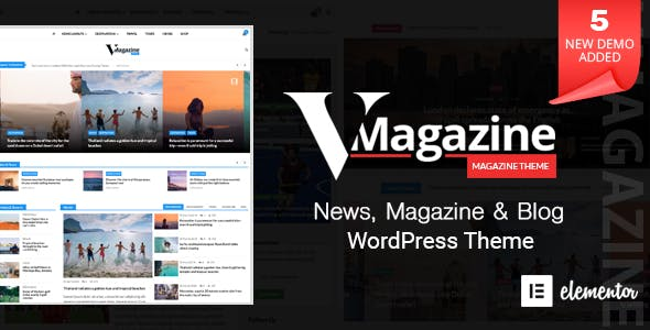 Vmagazine v1.1.5 — Blog, NewsPaper, Magazine Themes
