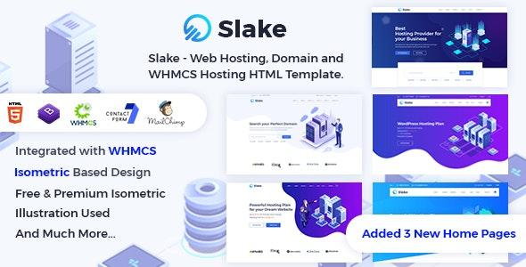 Slake v2.0 — Web Hosting, Domain and WHMCS Hosting HTML Template