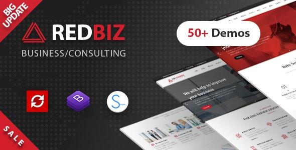 RedBiz — Business & Consulting Multi-Purpose Template