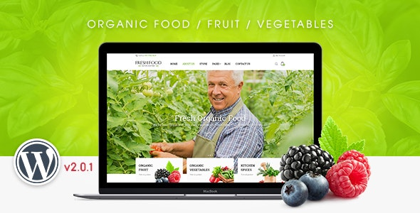 FreshFood v2.0.1 — Multi Store Responsive WordPress Theme
