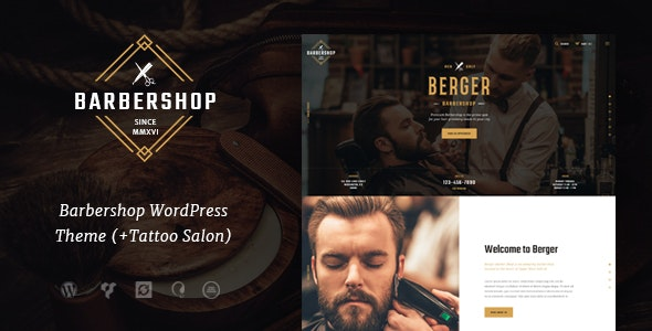 Berger v1.1.1 — Barbershop & Tattoo WordPress Theme