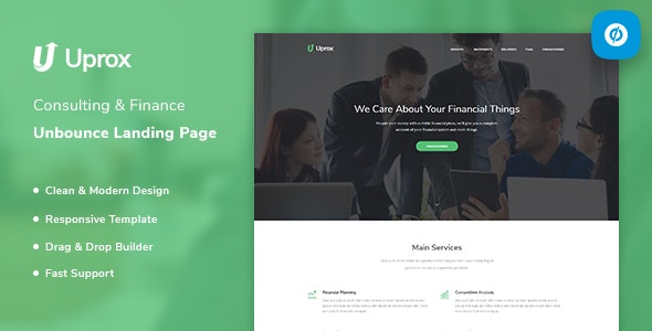 Uprox v1.0 — Consulting & Finance Unbounce Landing Page Template