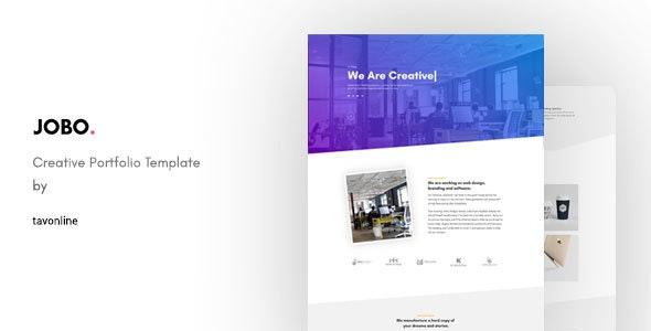 Jobo — Creative Portfolio HTML Template