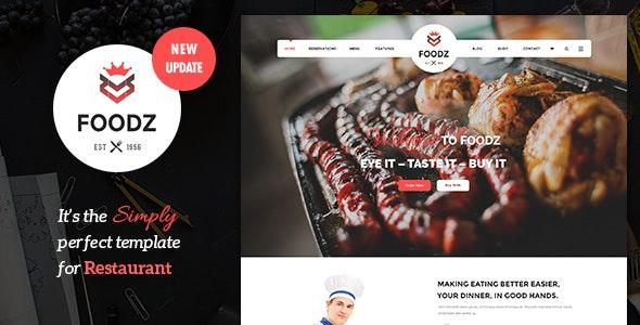 Foodz v3.0.4 — Restaurant, Spa & Salon Joomla Template