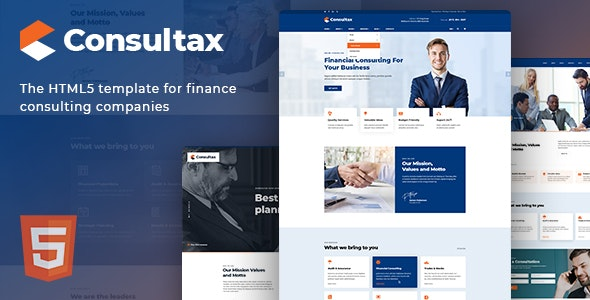 Consultax v1.0 — Financial & Consulting HTML5 Template