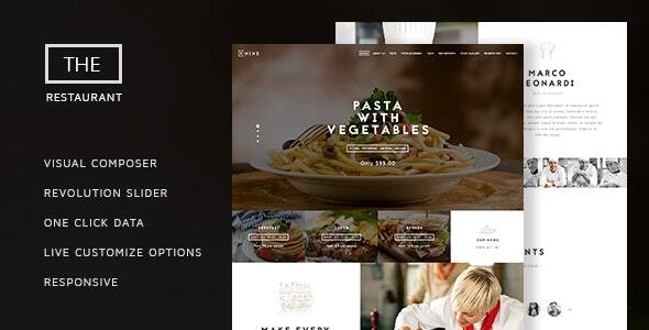 The Restaurant v1.4 — Restauranteur and Catering One Page Theme