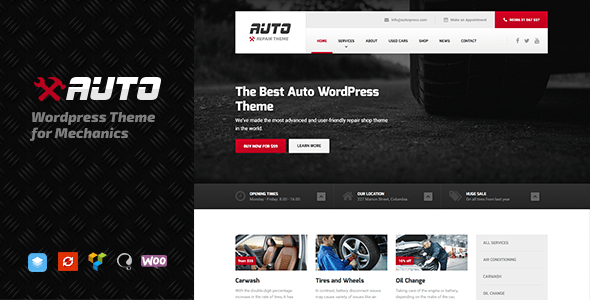 Auto v1.7.3 — WordPress theme for Mechanic, Car Dealers and Repair Shops