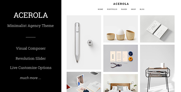 Acerola v1.6 — Ultra Minimalist Agency Theme