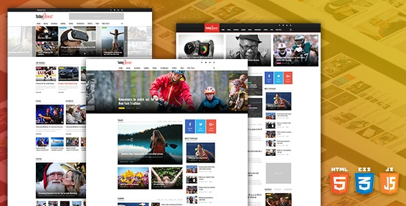 TodayExpress v1.0.0 — News & Magazine HTML Template