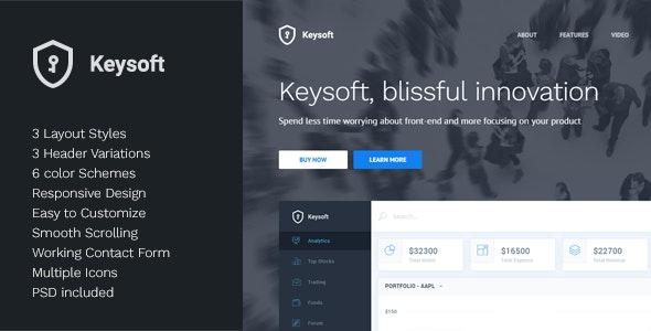 KeySoft v1.1 — Software Landing Page