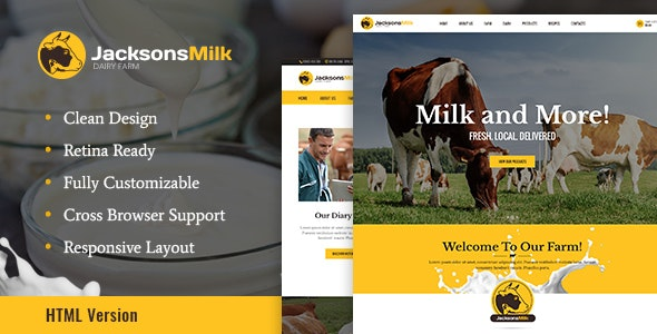 Dairy Farm & Eco Products HTML Template v1.0