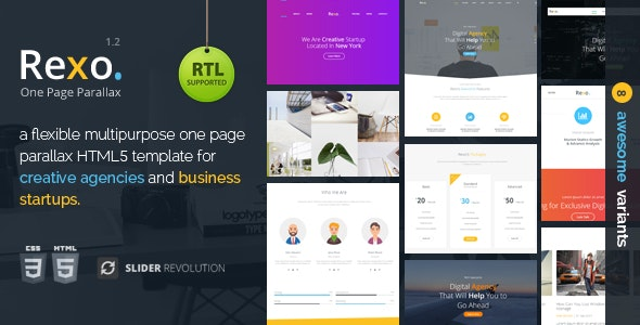 Rexo v1.2 — One Page Parallax